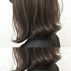 ナチュラル アッシュ ボブ グレージュ ヘアスタイルや髪型の写真・画像