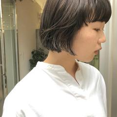 ショートヘア ミニボブ ナチュラル ショートボブ ヘアスタイルや髪型の写真・画像