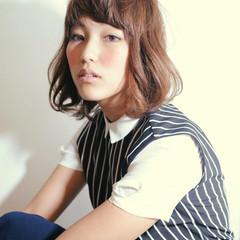 大人女子 ストリート ミディアム ボブ ヘアスタイルや髪型の写真・画像