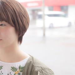 ブラウンベージュ ストリート ベージュ ショート ヘアスタイルや髪型の写真・画像