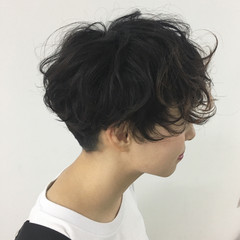 ストリート ゆるふわ 簡単 ショート ヘアスタイルや髪型の写真・画像