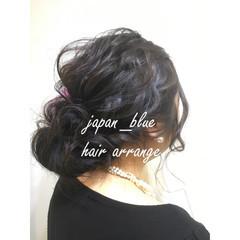 結婚式 ミディアム 大人かわいい 編み込み ヘアスタイルや髪型の写真・画像