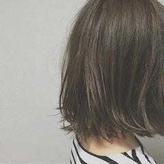 アッシュ 外国人風 黒髪 グラデーションカラー ヘアスタイルや髪型の写真・画像