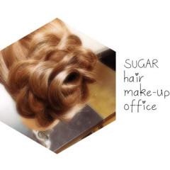 ヘアアレンジ ロング 花 ヘアスタイルや髪型の写真・画像