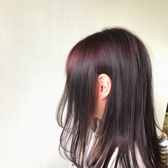 外ハネ ナチュラル 艶髪 ウェットヘア ヘアスタイルや髪型の写真・画像