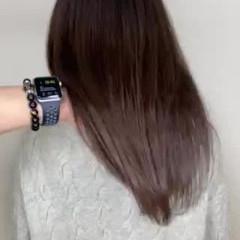 ナチュラル 髪質改善トリートメント セミロング ココアブラウン ヘアスタイルや髪型の写真・画像