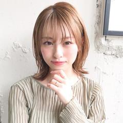 アンニュイほつれヘア ひし形シルエット パーティ ミディアム ヘアスタイルや髪型の写真・画像