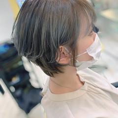 ガーリー ショート アッシュ 耳かけ ヘアスタイルや髪型の写真・画像