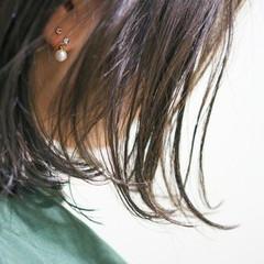 ナチュラル 大人かわいい アッシュ 暗髪 ヘアスタイルや髪型の写真・画像