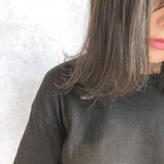 グレージュ ベージュ ナチュラル ボブ ヘアスタイルや髪型の写真・画像