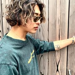 メンズカラー メンズヘア コントラストハイライト ストリート ヘアスタイルや髪型の写真・画像