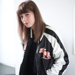 ストリート 外国人風 アッシュ ストレート ヘアスタイルや髪型の写真・画像