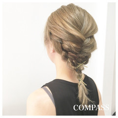 涼しげ ナチュラル 簡単ヘアアレンジ リラックス ヘアスタイルや髪型の写真・画像