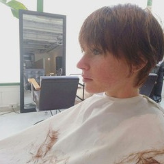 フェミニン ショート おフェロ 透明感 ヘアスタイルや髪型の写真・画像