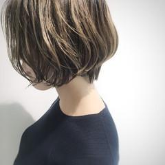 圧倒的透明感 ボブ 外国人風カラー 大人ハイライト ヘアスタイルや髪型の写真・画像