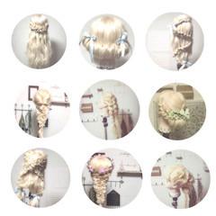 ヘアアレンジ フェミニン ゆるふわ 外国人風 ヘアスタイルや髪型の写真・画像