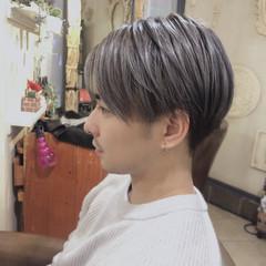ショート メンズカラー メンズ メンズヘア ヘアスタイルや髪型の写真・画像