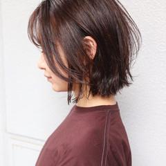 インナーカラー ハイライト ミニボブ ボブ ヘアスタイルや髪型の写真・画像