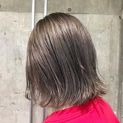エレガント 切りっぱなし ロブ ボブ ヘアスタイルや髪型の写真・画像