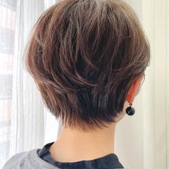 ショート アッシュベージュ ショートボブ ショートヘア ヘアスタイルや髪型の写真・画像