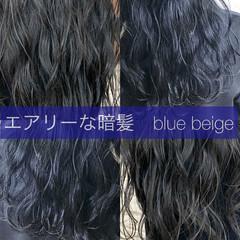 切りっぱなしボブ ロング 暗髪 モテ髪 ヘアスタイルや髪型の写真・画像