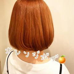 フェミニン ボブ 可愛い 春スタイル ヘアスタイルや髪型の写真・画像