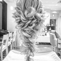 結婚式 ロング 大人かわいい 外国人風 ヘアスタイルや髪型の写真・画像