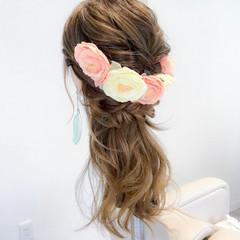 ショート エレガント 簡単ヘアアレンジ 結婚式 ヘアスタイルや髪型の写真・画像