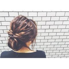 ウェーブ ルーズ ヘアアレンジ ボブ ヘアスタイルや髪型の写真・画像