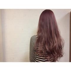 ガーリー ゆるふわ ロング ハイライト ヘアスタイルや髪型の写真・画像
