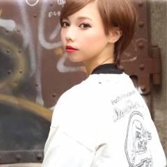 丸顔 ストリート 秋 ショート ヘアスタイルや髪型の写真・画像