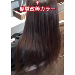 髪質改善 頭皮改善 縮毛矯正 セミロング ヘアスタイルや髪型の写真・画像