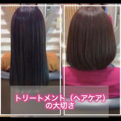 髪質改善 うる艶カラー 髪質改善トリートメント ミディアム ヘアスタイルや髪型の写真・画像