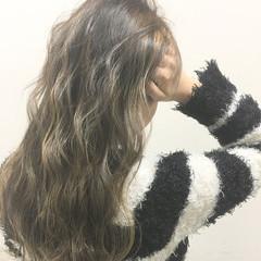 ブラウン 外国人風 ロング ハイライト ヘアスタイルや髪型の写真・画像