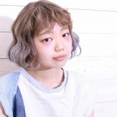 ストリート グラデーションカラー ヘアアレンジ 外国人風 ヘアスタイルや髪型の写真・画像