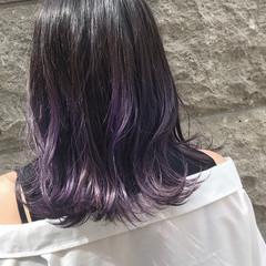 バイオレット デート ガーリー バイオレットカラー ヘアスタイルや髪型の写真・画像