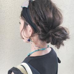 ヘアアレンジ お団子 大人かわいい 色気 ヘアスタイルや髪型の写真・画像