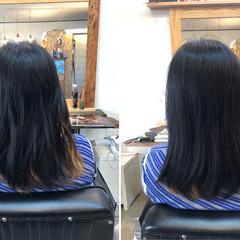 しっとり 髪質改善 セミロング 美髪 ヘアスタイルや髪型の写真・画像