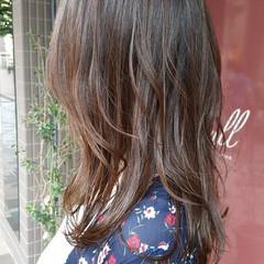 透明感 秋 イルミナカラー ナチュラル ヘアスタイルや髪型の写真・画像