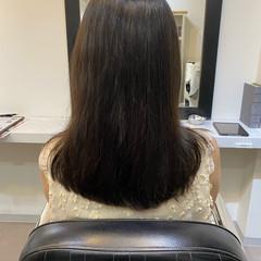 髪質改善トリートメント ナチュラル 最新トリートメント ミディアム ヘアスタイルや髪型の写真・画像