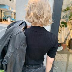 ボブ ストリート 外国人風 ハイトーン ヘアスタイルや髪型の写真・画像