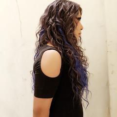 ガーリー ダブルカラー グレージュ 渋谷系 ヘアスタイルや髪型の写真・画像