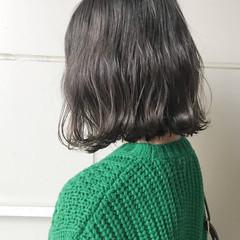 ボブ ミディアム ナチュラル セルフヘアアレンジ ヘアスタイルや髪型の写真・画像