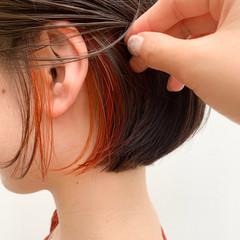 ヘアアレンジ ボブ 小顔ショート デート ヘアスタイルや髪型の写真・画像