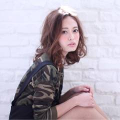 モテ髪 コンサバ ミディアム 外国人風 ヘアスタイルや髪型の写真・画像