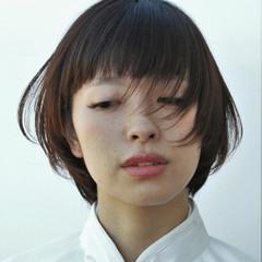 ナチュラル ショート ボブ アッシュ ヘアスタイルや髪型の写真・画像