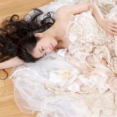 フェミニン ウェーブ 結婚式 ロング ヘアスタイルや髪型の写真・画像