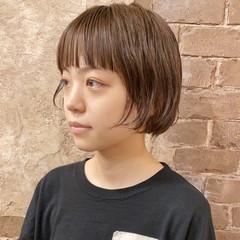 ショートヘア ミニボブ ハンサムショート ナチュラル ヘアスタイルや髪型の写真・画像
