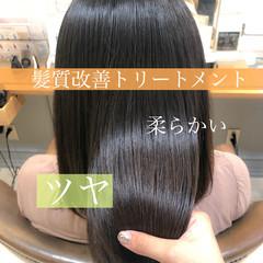 髪質改善 うる艶カラー 艶髪 ロング ヘアスタイルや髪型の写真・画像