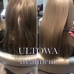 髪質改善トリートメント セミロング 艶髪 ストレート ヘアスタイルや髪型の写真・画像
